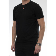 T-shirt med vävd sköld